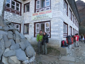 Hotel Himalayan where we spent a night at Tengboche