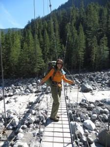 First suspension bridge