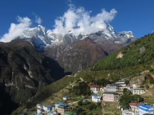 Rising above Namche