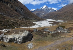 Beautiful valley leading us to Pheriche