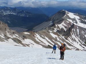 Making our way up Inter Glacier