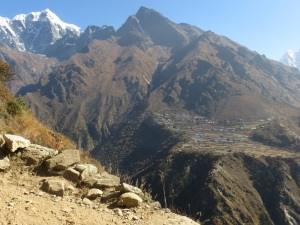 View of Phortse from the trail close to Namchee Bazaar