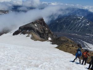 Getting ready to descend onto Emmons Glacier