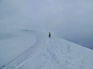 Gabi close to the summit