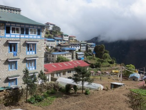 View of Namche from our hotel window