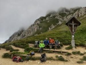 Contemplating whether to climb Sass Putia
