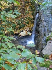 Small waterfall along the way