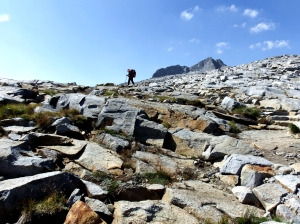 Dave is approaching the top of Donohue Pass