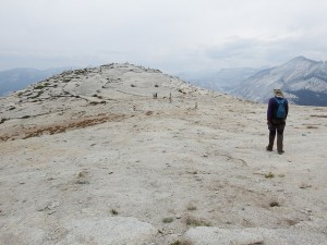 Half Dome summit offers lots of space to roam around