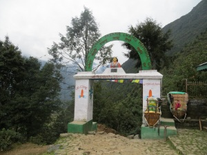 Gate at the beginning of our trek