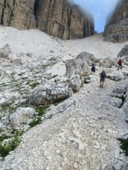 Trail to/from Passo Pordoi