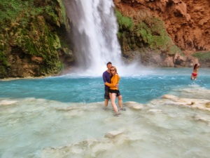 Compulsory splash in the pool under Havasu Fall
