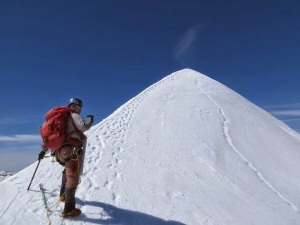 Our friend Aaron at the knife ridge