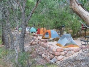 Bright Angel Creek camp