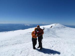 Dave and I on summit of Mount Rainier