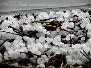 From 100 degrees to a hail storm in less than 24 hours