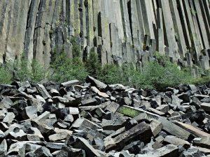 Columnar basalt of Devil's Postpile