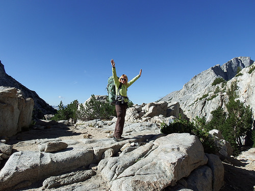 Happiness atop the Pass
