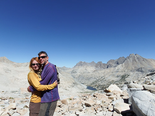Another sunny day for a pass climbing. Atop Pinchott Pass.
