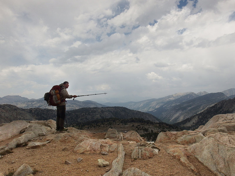 Dave is checking out the views from Silver Pass