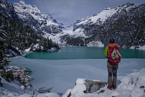 Overlooking Blanca Lake