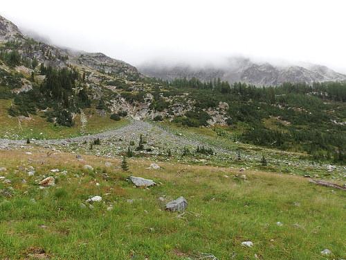 Entering Upper LeRoy Creek Basin