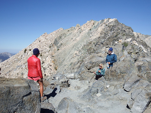 Reunion on the top of Glen Pass
