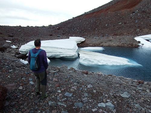 At the tip of Flett Glacier