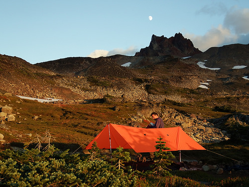 Campsite in the evening