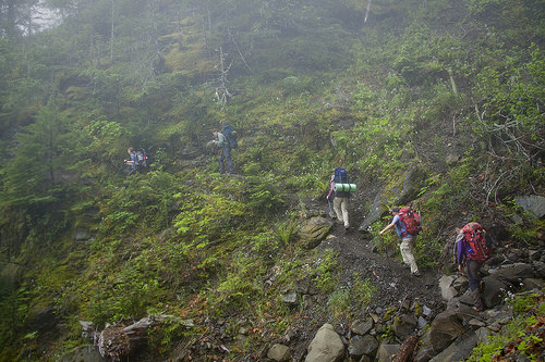 Crossing a ravine