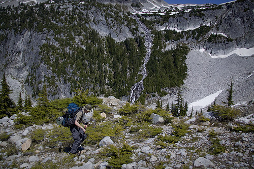 Above the boulder field