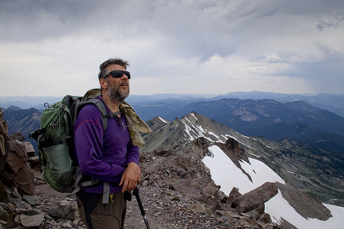 Dave scouting the route to the summit of Old Snowy.