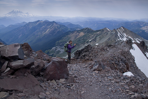 Checking out the Knife Edge - one of the exciting parts of the PCT