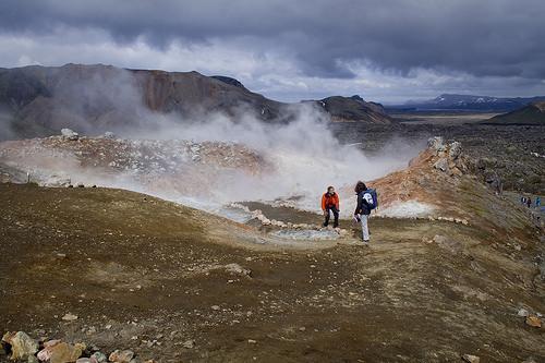 Smoky hills of Landmannalaugar