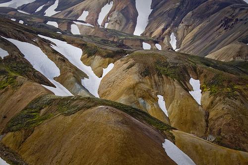 Close up of the beautiful barren hillsides