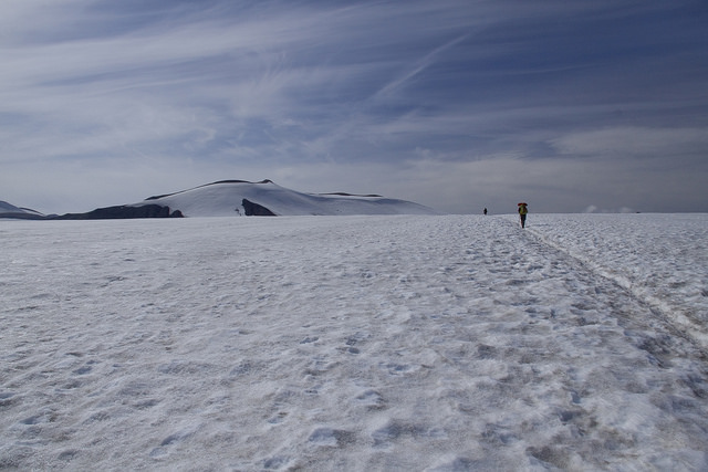 We spent most of the day on this snowfield.