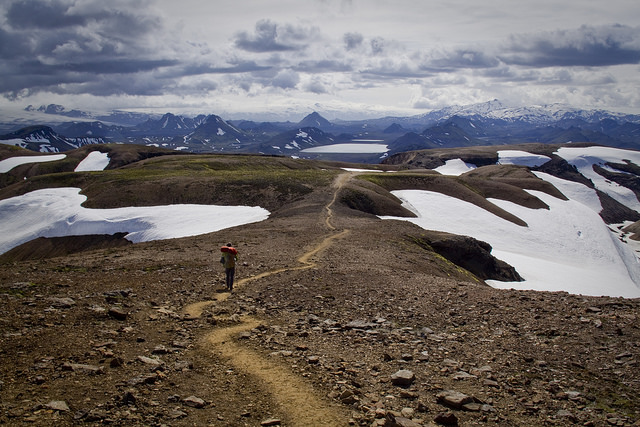 Ridge line before dropping to Altavatn plateau