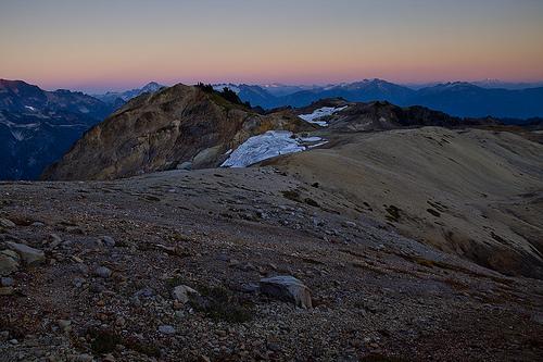Evening set onto the plateau.