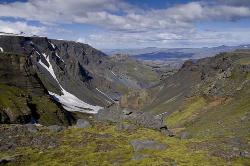 Looking down toward Thorsmork