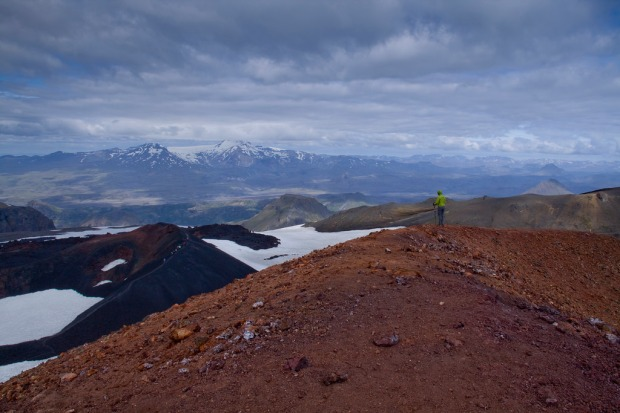 Atop Magni overlooking the scenery towards Modi crater.